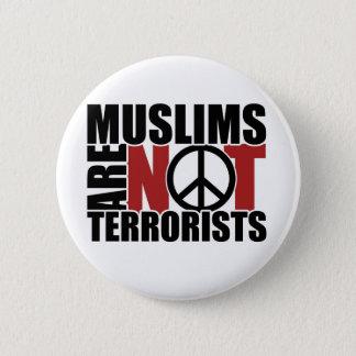 Badge Rond 5 Cm Les musulmans ne sont pas insigne de terroristes