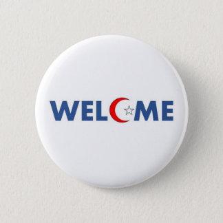 Badge Rond 5 Cm Les musulmans souhaitent la bienvenue aux