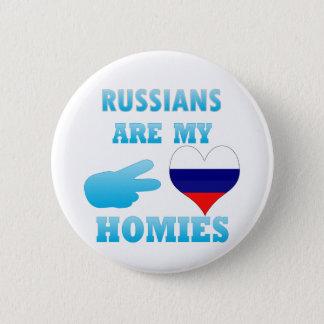 Badge Rond 5 Cm Les Russes sont mon Homies