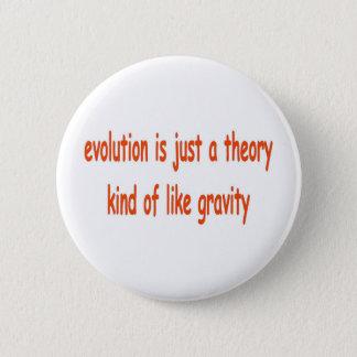 Badge Rond 5 Cm l'évolution est juste une théorie