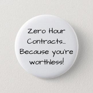 Badge Rond 5 Cm L'heure zéro se contracte… Puisque vous êtes sans