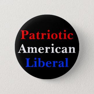 Badge Rond 5 Cm Libéral américain patriote