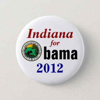 Badge Rond 5 Cm L'Indiana pour Obama 2012