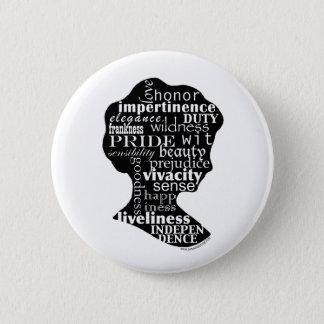 Badge Rond 5 Cm Lisez la camée de Jane Austen