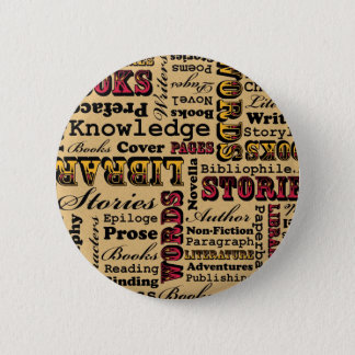 Badge Rond 5 Cm Livres de livres de livres !