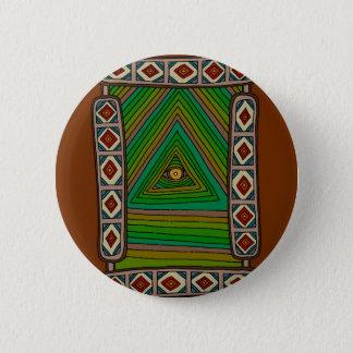 Badge Rond 5 Cm L'oeil impassible de Dieu