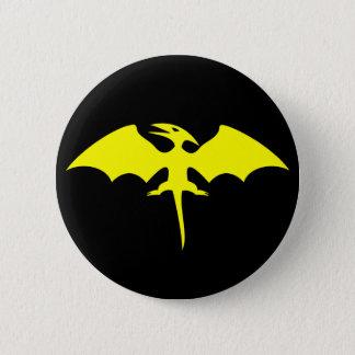 Badge Rond 5 Cm Logo de super héros de dinosaure de ptérodactyle