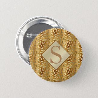 Badge Rond 5 Cm L'or élégant part du monogramme