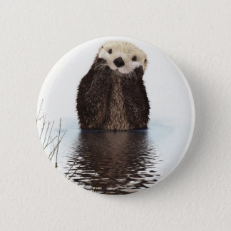 Badge Rond 5 Cm Loutre