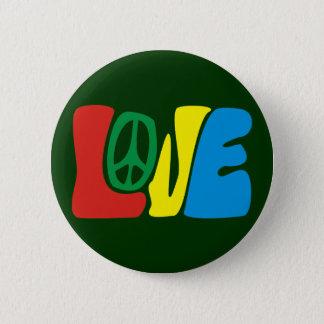 Badge Rond 5 Cm Love Peace hippie