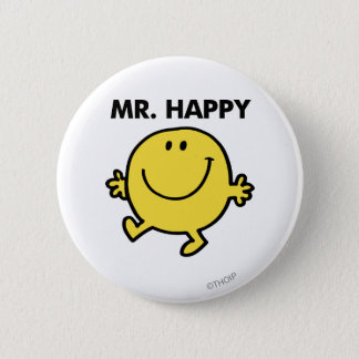 Badge Rond 5 Cm M. Happy | dansant et souriant