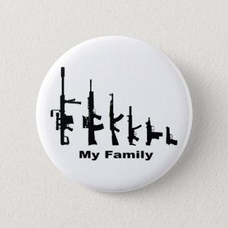 Badge Rond 5 Cm Ma famille (armes à feu d'amour d'I)