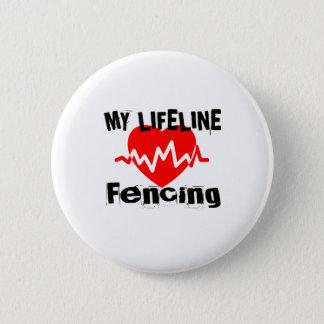 Badge Rond 5 Cm Ma ligne de vie clôturant des conceptions de