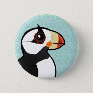 Badge Rond 5 Cm Macareux à cornes de Birdorable