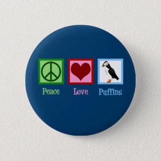 Badge Rond 5 Cm Macareux d'amour de paix