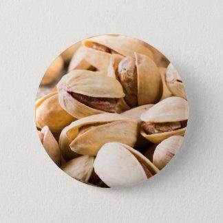 Badge Rond 5 Cm Macro vue en gros plan d'un groupe de pistache