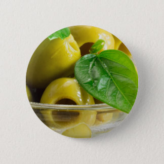 Badge Rond 5 Cm Macro vue sur des olives en gros plan