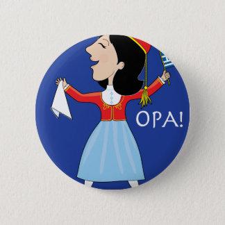 Badge Rond 5 Cm Madame grecque Dancing