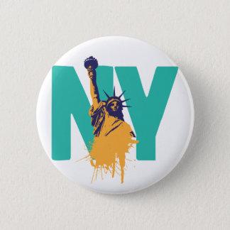 Badge Rond 5 Cm Madame Liberty de New York