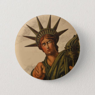 Badge Rond 5 Cm Madame Liberty Is Pointing à vous