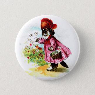 Badge Rond 5 Cm Madame victorienne vintage Button de Kitty