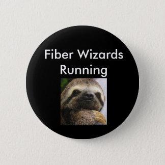 Badge Rond 5 Cm Magiciens de fibre courant le Pin