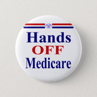 Badge Rond 5 Cm Mains outre d'Assurance-maladie