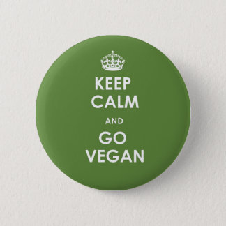 Badge Rond 5 Cm Maintenez calme et allez bouton végétalien