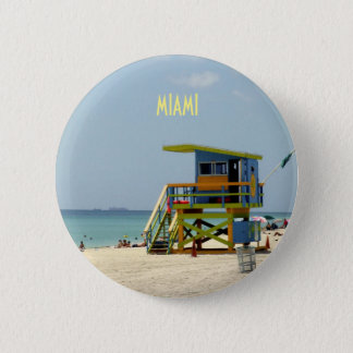 Badge Rond 5 Cm Maître nageur Shack de Miami Beach