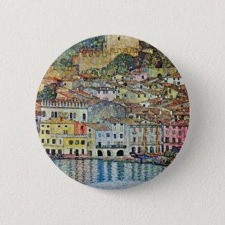 Badge Rond 5 Cm Malcesine sur le policier de lac par Gustav Klimt
