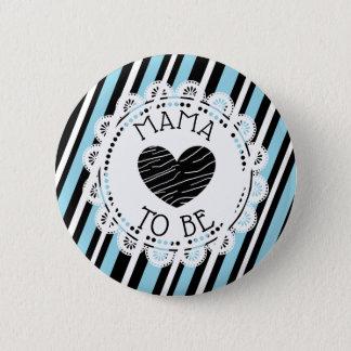 Badge Rond 5 Cm Maman à être bouton de baby shower de coeur de