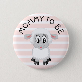 Badge Rond 5 Cm Maman à être bouton du baby shower de la fille