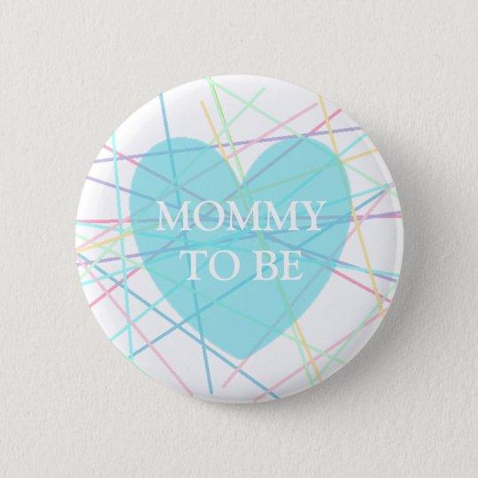 Badge Rond 5 Cm Maman à être lignes bouton de pastel de baby