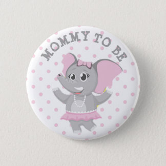 Badge Rond 5 Cm Maman à être Pin rose de baby shower de point de