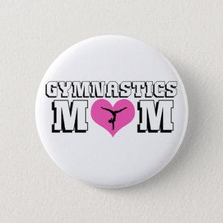 Badge Rond 5 Cm Maman gymnastique