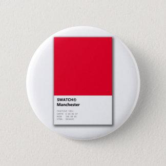 Badge Rond 5 Cm Manchester est ROUGE