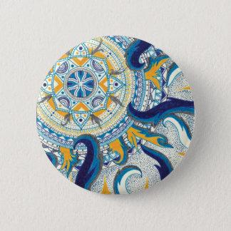 Badge Rond 5 Cm Mandala céleste