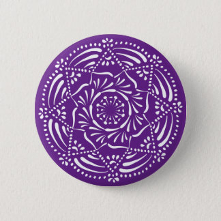 Badge Rond 5 Cm Mandala d'aubergine