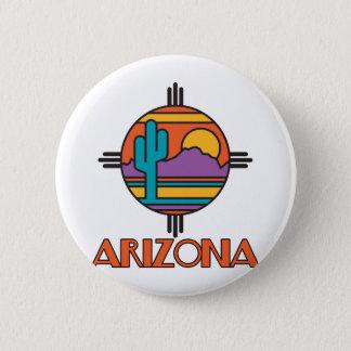 Badge Rond 5 Cm Mandala de désert de l'Arizona