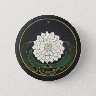 Badge Rond 5 Cm Mandala d'or de fleur