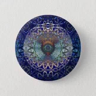 Badge Rond 5 Cm Mandala du bouton de Web de Noedic