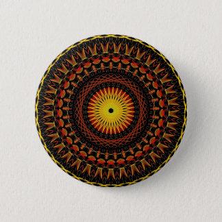 Badge Rond 5 Cm Mandala psychédélique foncé