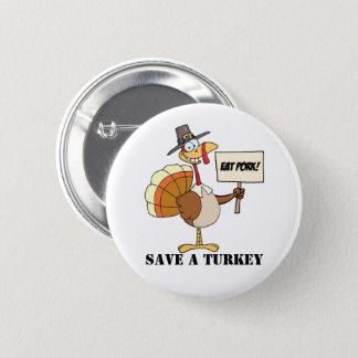 Badge Rond 5 Cm Mangez les économies de porc la Turquie