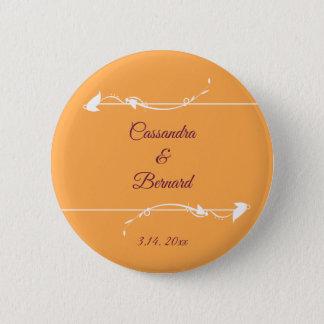 Badge Rond 5 Cm Mangue et bouton pourpre du mariage |