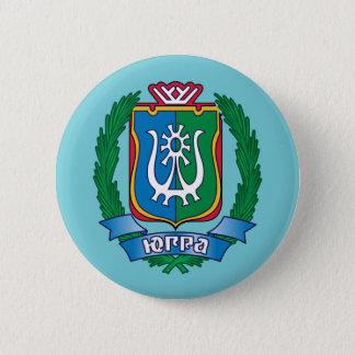Badge Rond 5 Cm Manteau des bras de Yugra