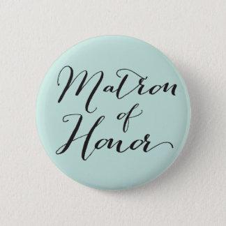 Badge Rond 5 Cm Manuscrit de dame de honneur épousant le bouton