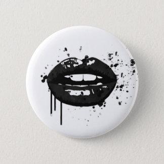 Badge Rond 5 Cm Maquilleur élégant de baiser de mode de lèvres