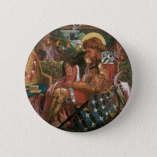 Badge Rond 5 Cm Mariage de St George, princesse Sabra par Rossetti