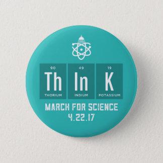 Badge Rond 5 Cm Mars pour le bouton d'éléments chimiques de la