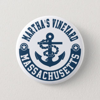 Badge Rond 5 Cm Martha's Vineyard le Massachusetts